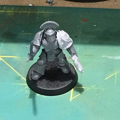 Horus Heresy First Tactical Squad Sergeant WIP