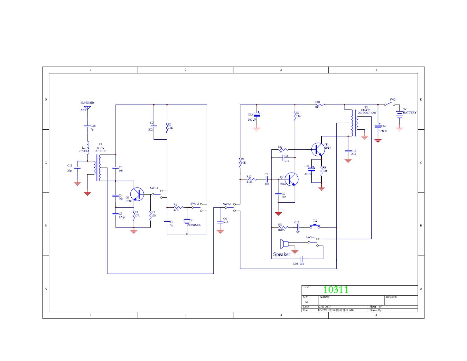Elehob Voyager 1 Circuit Diagram