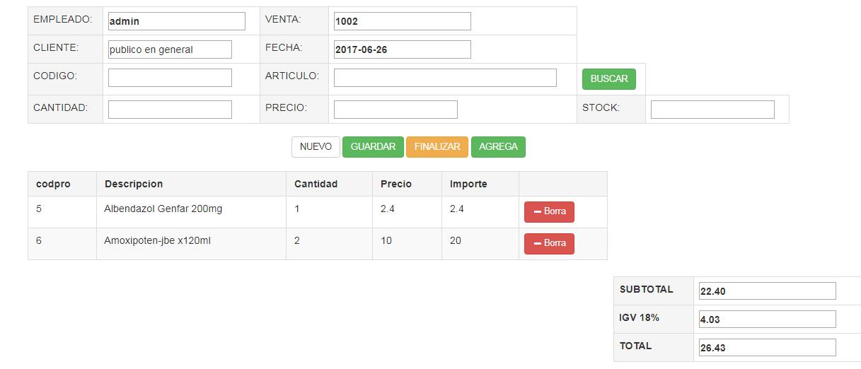Sistema De Farmacia PHP Y MYSQL BASICO - SISTEMASINFOR