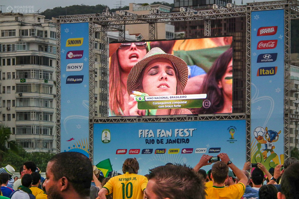 Fifa Fan Fest on Copacabana Beach in Rio during World Cup 2014