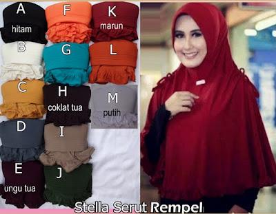 Grosir Jilbab Stella Serut Rempel