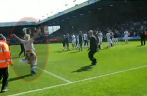 63-year-old Margaret Musgrove gets 12-month ban for celebrating on Leeds pitch