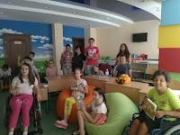 Леся Воронина у Київському Центрі реабілітації дітей з інвалідністю