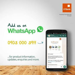 GTBank whatsapp number
