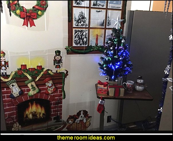 Office Birthday Decoration Ideas. Indoor Christmas Décor Props Office  Cubicle Decorating Ideas   Work Desk