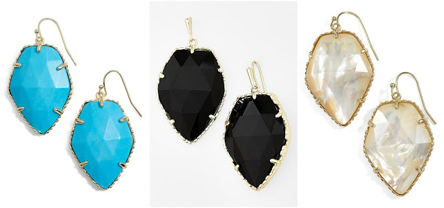 Kendra Scott Corley Faceted Stone Drop Earrings $45 (reg $75)