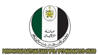 Permohonan Bantuan Zakat IPTA/ IPTS MAIDAM 2018 Online
