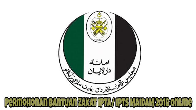 Permohonan Bantuan Zakat IPTA/ IPTS MAIDAM 2021