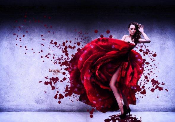 Carole Sanson Kryseis-Art deviantart foto-manipulações photoshop mulheres surreal fantasia emocional