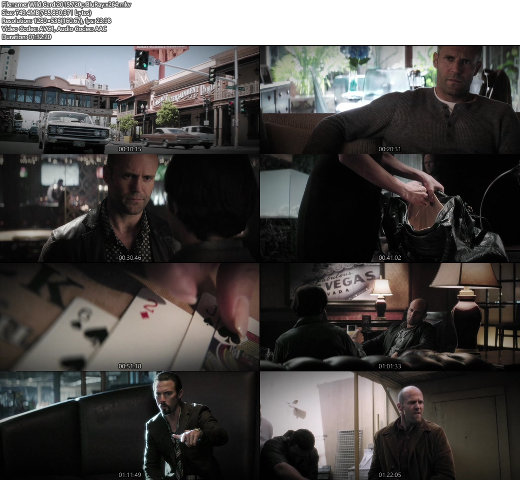 Wild Card 2015 720p BluRay | 480p 350MB | 200MB HEVC x264 Screenshot