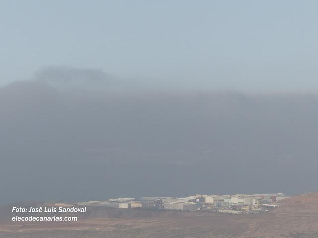 video fotos calima Canarias. Tormenta de arena sobre Gran Canaria, 15 julio