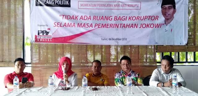 PPI Bedah Kontribusi Jokowi di Sektor Pemberantasan Korupsi
