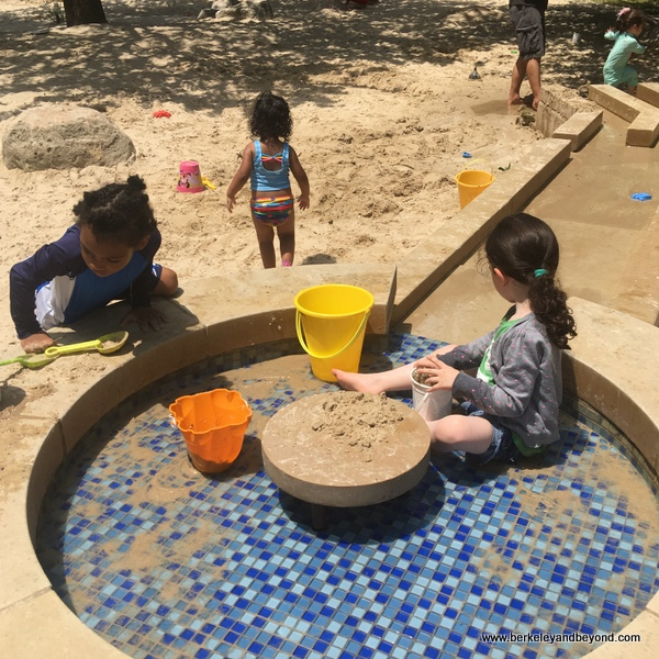children in giant sandbox at Hemisfair in San Antonio, Texas
