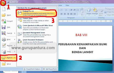 cara proteksi powerpoint dengan package for cd 1