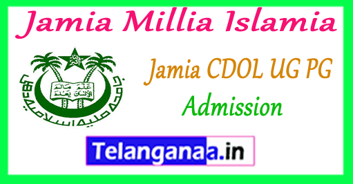 Jamia Millia Islamia CDOL UG PG Admissions 2019 Application