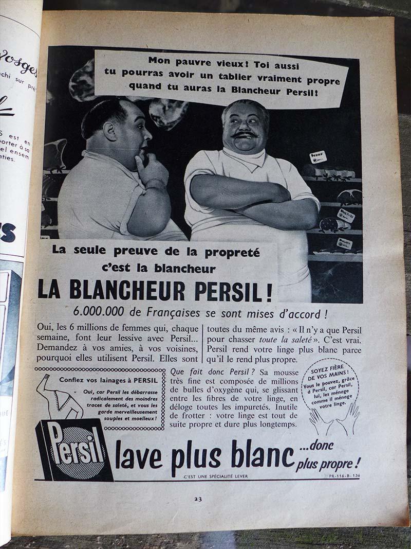 Ancienne publicité pour la marque Persil
