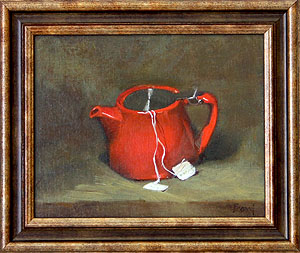 "Tea for Two 8"" x 10"" Oil"