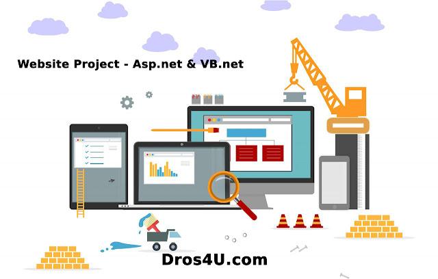 تحميل مشروع كامل Asp.Net مع داتا بيس SQL Server، المشروع تم تصميمه وبرمجته باستخدام تقنية ال Asp و لغة VB.Net  - موقع دروس4يو Dros4U