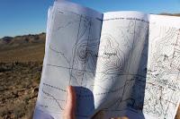 Topo map at summit of Negro Hill (4875'), Joshua Tree National Park