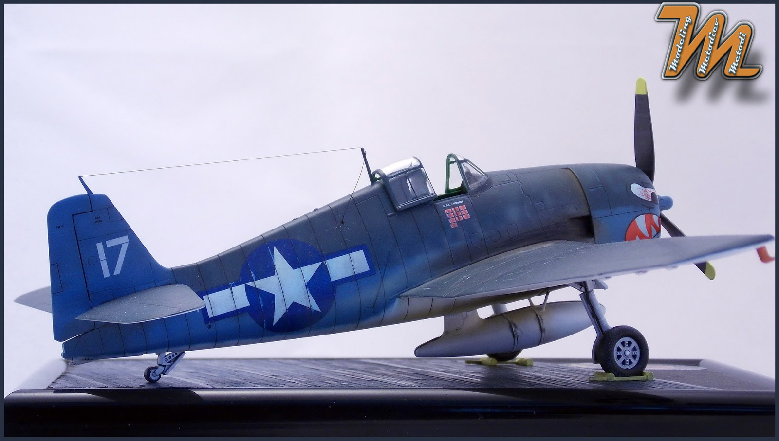 F6F-3 Hellcat, VF-27, airplane scale model