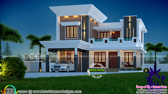 1925 square feet stylish modern 4 bedroom Kerala home