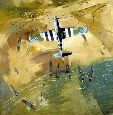 Eric Aldwinckle -Invasion Pattern, Normandy - 1944
