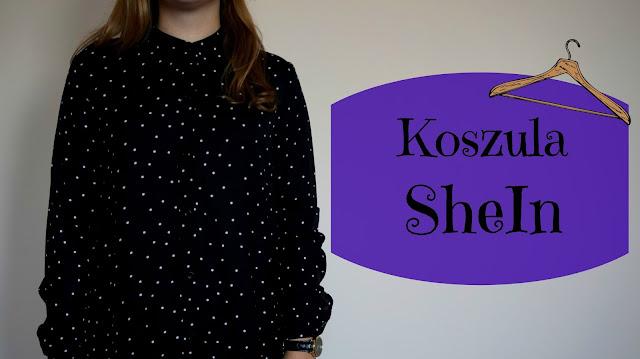 RECENZJA: Czarna koszula w białe kropki | SheIn
