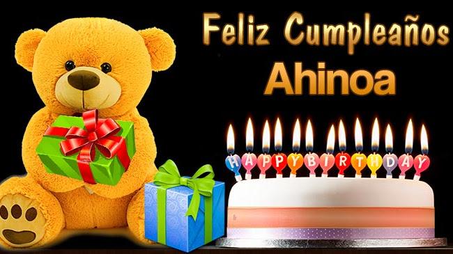 Feliz Cumpleaños Ahinoa