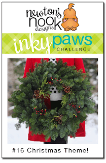 Inky Paws Challenge #16 - Christmas Theme - Newton's Nook Designs