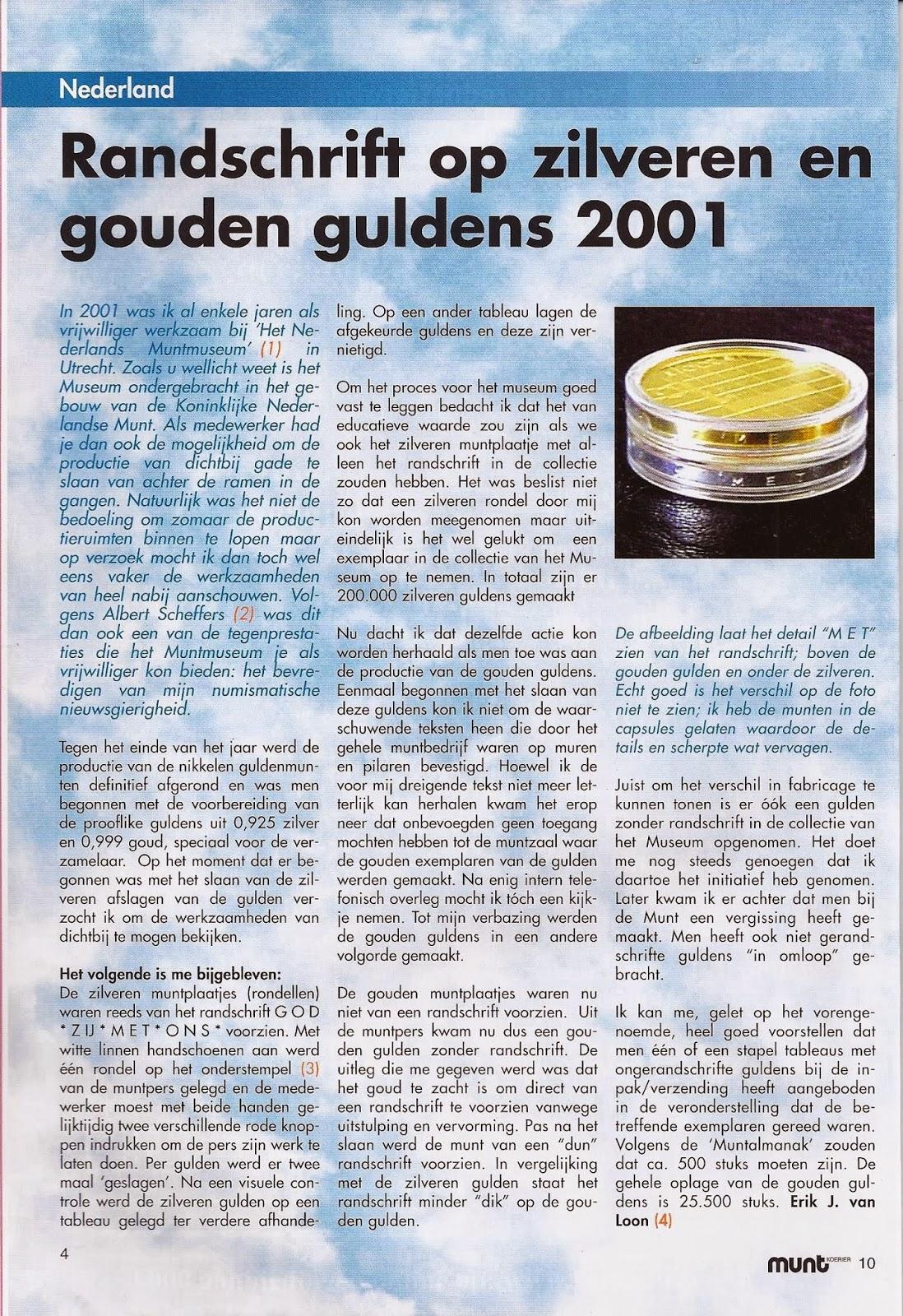 gouden gulden 2001