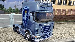 Scania R V4 + Simply skin mod