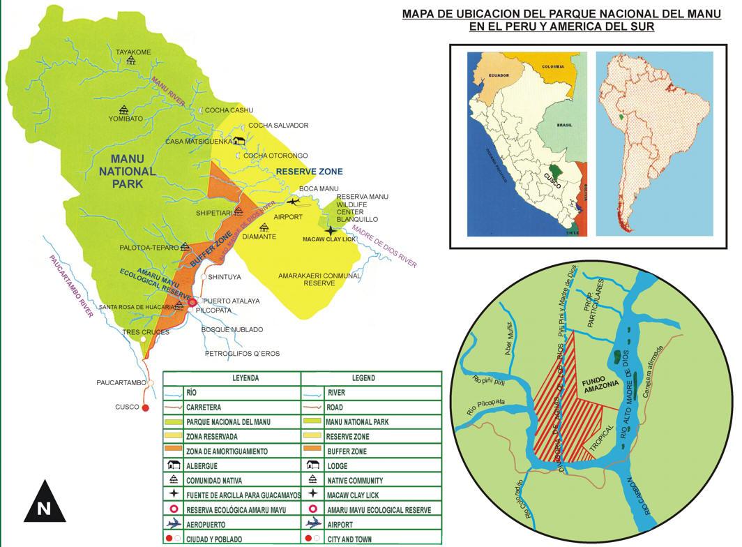 Mapa Con Un Puntero Ubicación: AREAS NATURALES PROTEGIDAS DEL PERU