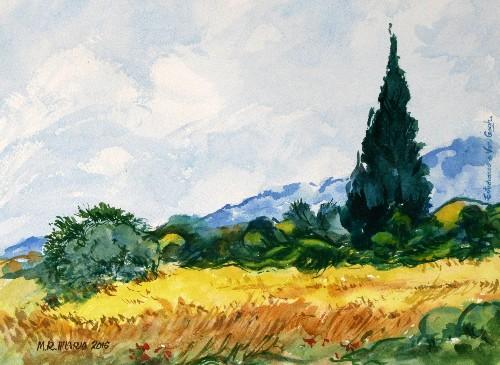 Taller de acuarela de hilario cipreses de van gogh - Donde estudiar pintura ...