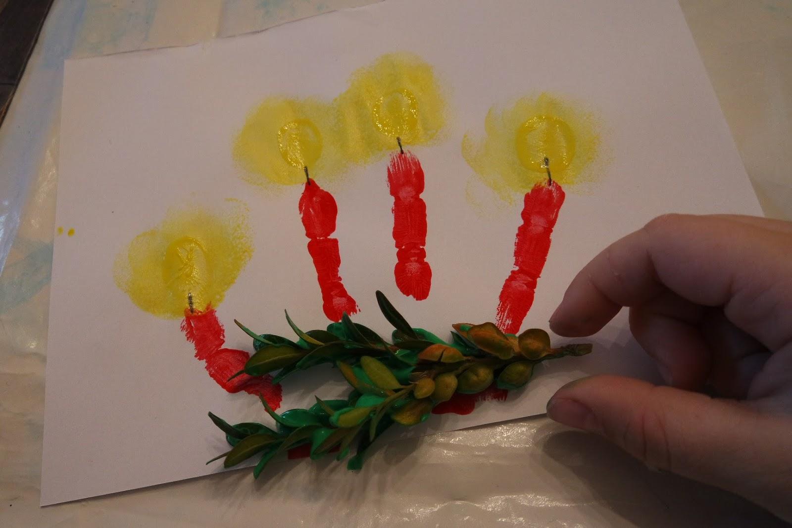 Pamelopee Kinder Malen Weihnachtsbilder Mit Fingerfarben