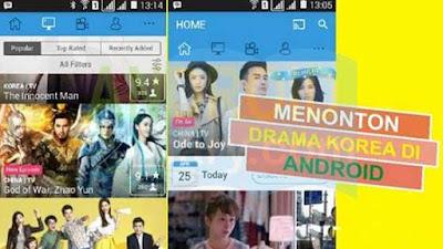 hanya dengan menggunakan hp android berbagai macam tayangan film drama korea dapat kamu s Aplikasi Menonton Drama Korea di Android