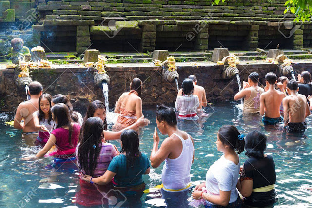 Bali, Indonesia: Tirta Empul Temple is a Hindu Balinese And Tampak Siring