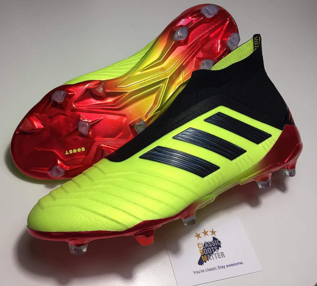 5ac4c010ddd2 Update: The first real pictures and videos showing the final version of the Adidas  Predator 18+ World Cup boots have leaked via the great @mania_expert.