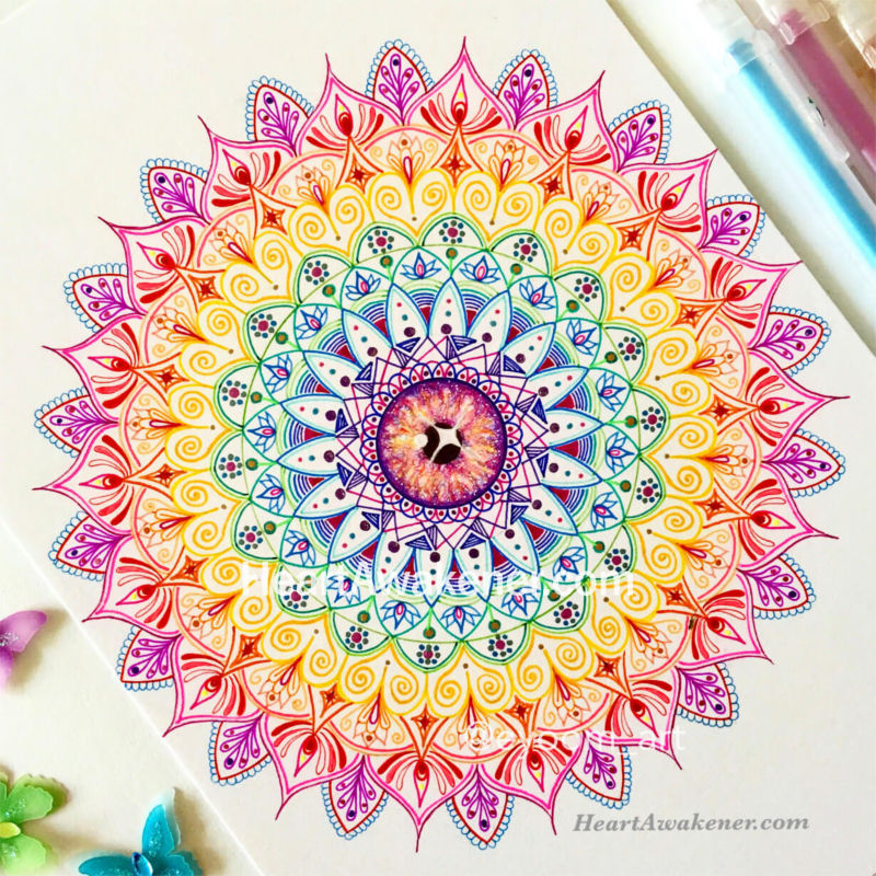 Rainbow Mandala for Chakra Healing by Luna Ahn
