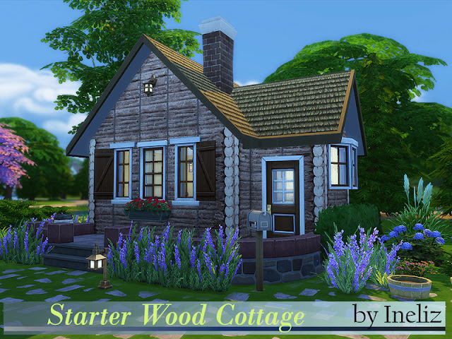 Sims 4 Small Log Cabin