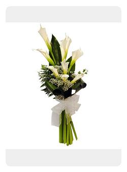 Arreglos Florales Maite Ramo De Calas Blancas Para Novia