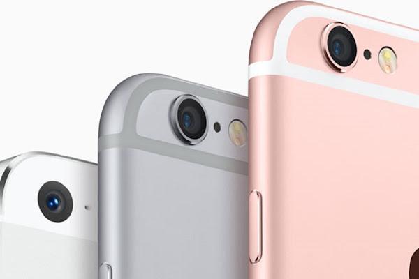 iPhone 5S, iPhone 6S, iPhone 6S plus 排排站,數位時代翻攝自 Apple 官網。