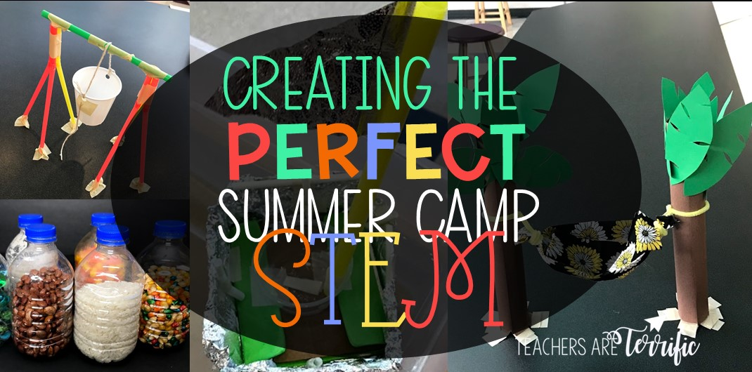 STEM Challenges that are perfect for Summertime or Summer Camp! This post features 6 STEM Challenges that your elementary STEM Summer Camp needs to try! #STEM #summercamp