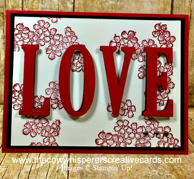 Card, Birthday Blossoms, Large Letters, Eclipse