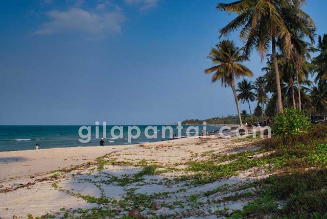 matras obyek wisata pantai bangka