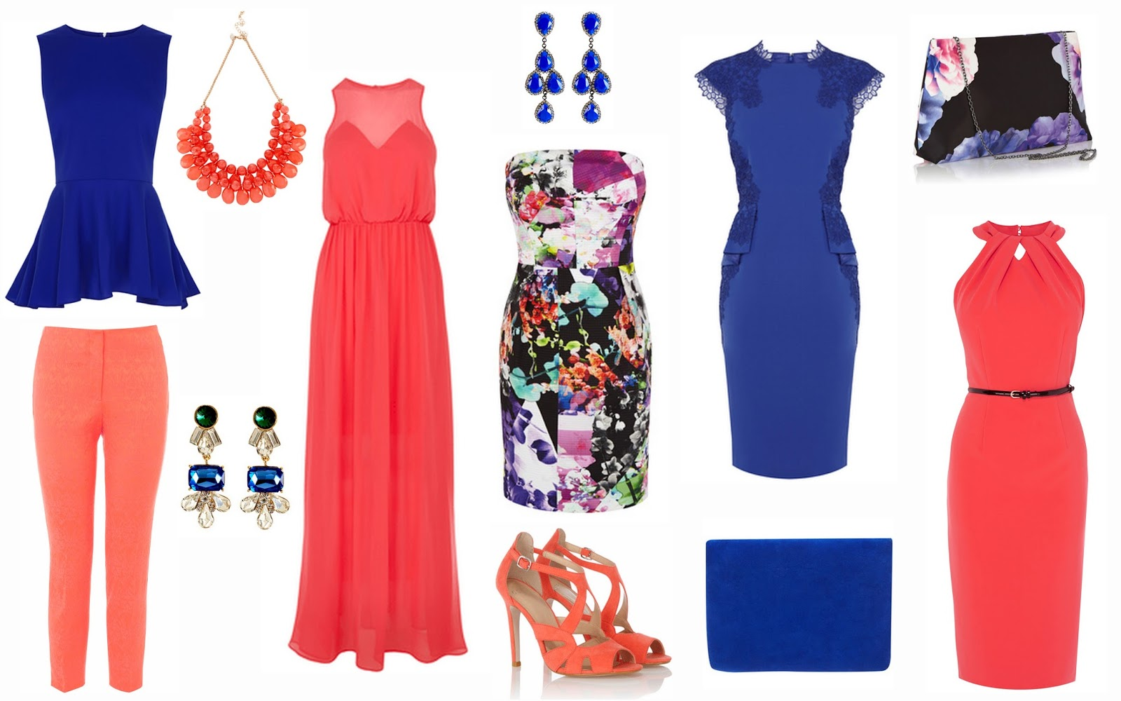 summer dresses for wedding guest summer dresses for weddings herona coral cropped jacquard trousers 45 coral necklace 20 jango drop earrings 18 marcha coral maxi dress 95 groucho blue earrings 12