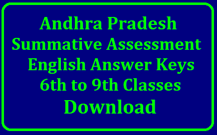 AP SA2 Summative Assessment 2 - English Keys by SCERT, AP Assessment Cell /2019/04/AP-summative-assessment-sa1-Sa2-english-answer-keys-6th-7th-8th-9th-download.html