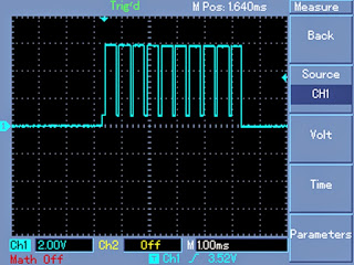 oscilloscope chopping waveform at mosfet gate