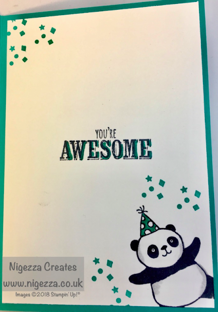 Stampin' Up!® Party Pandas Design Team Project #stampinforall