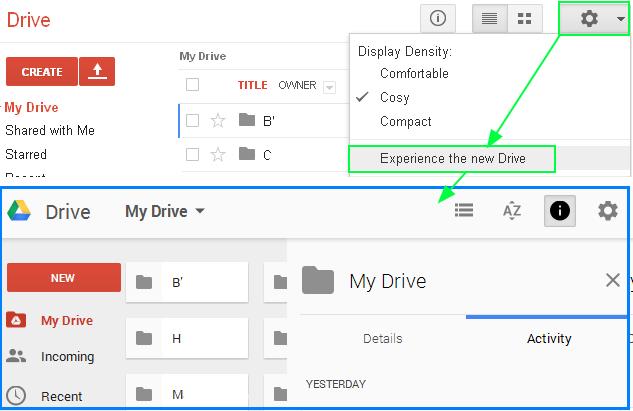 구글 드라이버 - 새로운 구글 드라이버 미리 사용해 보기