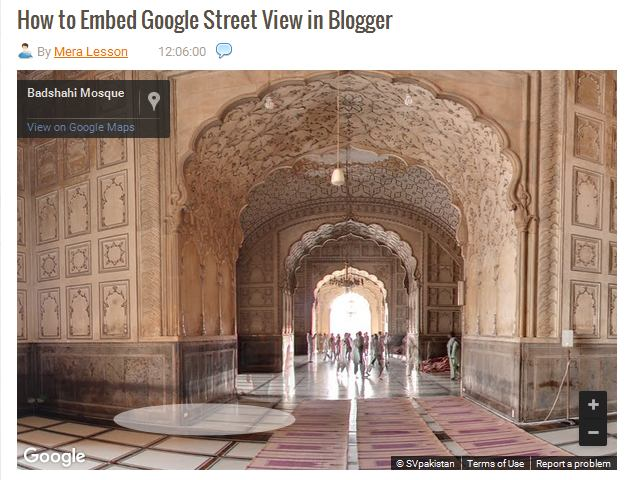 How to Embed Google Street View in Blogger